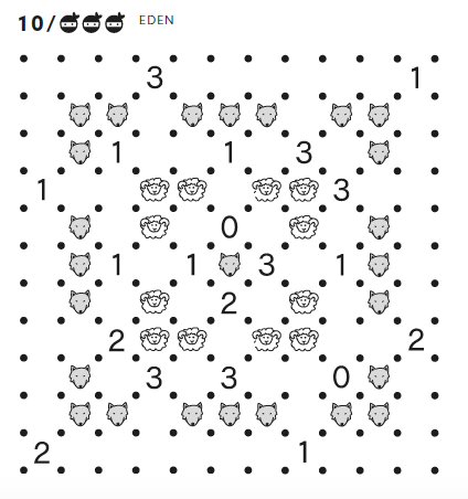 Wolf and Sheep Slitherlink Puzzle 2