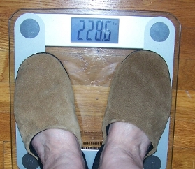 I weigh 228.6